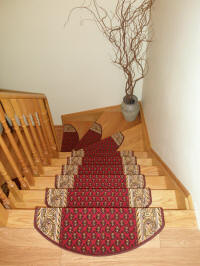 Non-slip Carpet Stair Treads made in Europe ship to USA